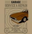 retro auto tyre poster vector image vector image
