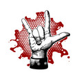 rock and roll metal devil horns gesture vector image vector image
