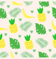 seamless pattern with fruits and leaves in scandin vector image vector image