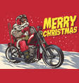 Senior biker wear santa claus costume and riding