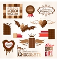 Set of chocolate decorative elements vector image