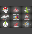set of new year and merry christmas christmas vector image vector image