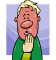 shy man concept cartoon vector image vector image