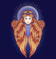 sirin alkonost gamayun mythological creature vector image vector image