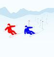 Slalom vector image vector image