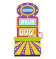 slot machine lucky sevens spinning wheels gambling vector image vector image