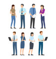 startup poster with business people men and women vector image vector image