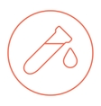 Test tube with drop line icon