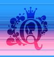 vintage queen emblem vector image vector image