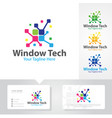 window tech logo designs vector image