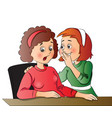 women gossiping at office vector image