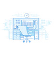 workplace in open space office vector image vector image