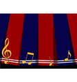 Red Navy Blue Music Note Background vector image