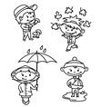 autumn children vector image