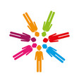 colorful team of executives in abstract figure vector image