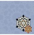 Flyer template Oriental designed flayer motif vector image
