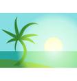 Palm beach vector image