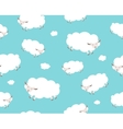 Seamless pattern White sheep and cloud on the vector image