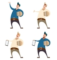 Set of couriers vector image