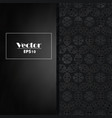 a luxury vintage card black background with vector image vector image
