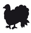 a silhouette of a turkey vector image vector image