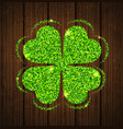 abstract clover leaf vector image vector image