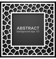 Abstract geometric frame background vector image vector image