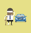 african businessman injured with car accident vector image