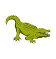 alligator head vector image vector image