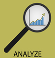 Analyze icon flat design vector image