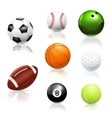 Balls icons vector image vector image