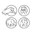 bear icon concept for design vector image vector image