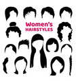 black hair silhouettes collection fashionable vector image