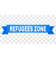 blue stripe with refugees zone caption vector image