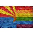 brick wall arizona and gay flags vector image vector image