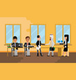 business meeting arabic and asian businessmen vector image