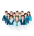 business people isolated on white background vector image