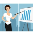 Business woman wearing white blouse and vector image