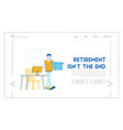 businessman get fired website landing page upset vector image vector image