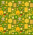 cartoon honey background pattern vector image