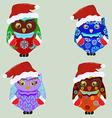 Christmas owl vector image