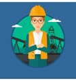Cnfident oil worker vector image vector image