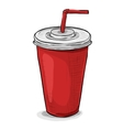 Cola cup color picture vector image vector image