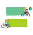 collection blank board vector image vector image