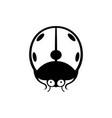 cute ladybug icon vector image vector image