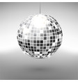 disco ball isolated on grayscale background night vector image vector image