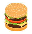 double hamburger classic burger american vector image vector image