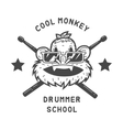drummer monkey face vector image