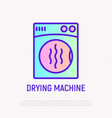 drying machine thin line icon vector image vector image
