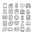 Education Icons 5 vector image vector image